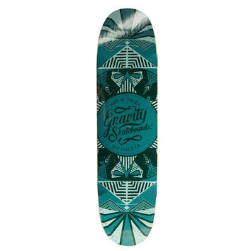 GRAVITY POOL MODEL KALEIDOSCOPE BLUE SKATEBOARD DECK 9.25 X 36