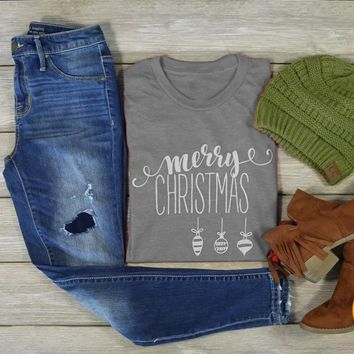 MERRY CHRISTMAS T-shirt funny graphic simple style women slogan cotton casual grunge tumblr shirt aesthetic party quote tee top