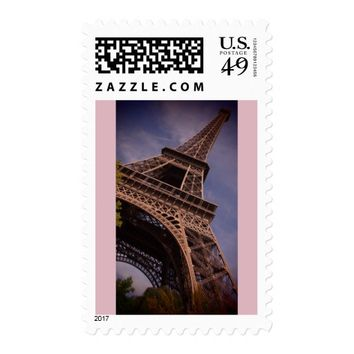 Paris Eiffel Tower Famous Landmark Photo Postage