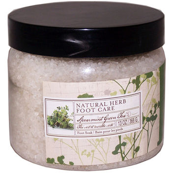 Natural Herb Foot Care Spearmint Green Tea Foot Soak /Salt