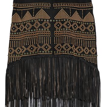 Fringed studded suede poncho | VALENTINO | Sale up to 70% off | THE OUTNET