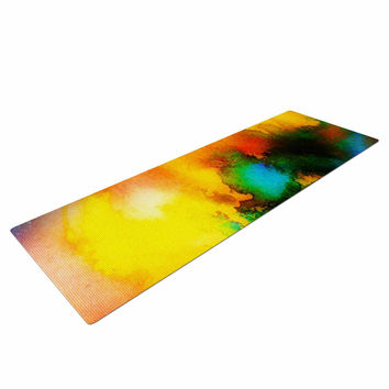 "No ""Good Vibrations"" Abstract Multicolor Yoga Mat"