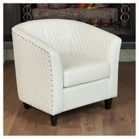 Christopher Knight Home Upholstered Chair - White: Target