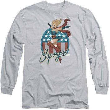 Mens Supergirl Bombshell Long Sleeve