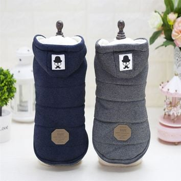 Mustache Hooded Style Pet Dog Thick Winter Coat  Clothes From S to XXL Free Shipping By China Post Dog Coat Dogs Clothes