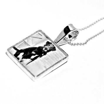 Custom Square Photo Picture Necklace