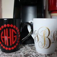 Monogrammed Coffee Cup