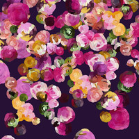 Flowers No13, Floral print, Fine Art Giclee Print, purple