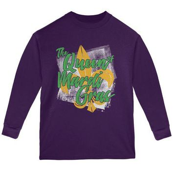 PEAPGQ9 The Queen of Mardi Gras Youth Long Sleeve T Shirt