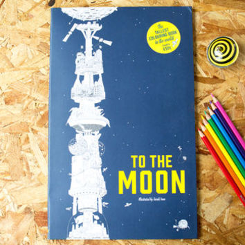the tallest colouring book in the world and crayon set by berylune   notonthehighstreet.com
