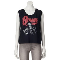 Fifth Sun David Bowie Burnout Muscle Tee - Juniors, Size: