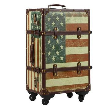 American Flag Trolley Suitcase