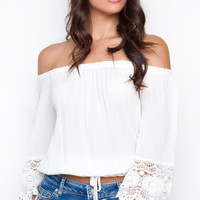 Molly Off The Shoulder Top - White