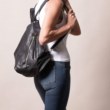 Vegan Leather Assym Backpack