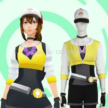 Pokemon GO Cosplay Costume Pokemon Costume Pocket Monster Trainer Yellow Version Outfit Team Valor Costumes
