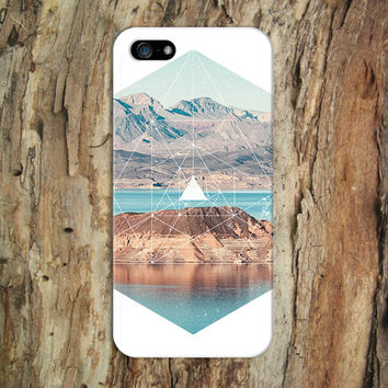 White Geometric Mountains x Rustic Nature Phone Case for iPhone 6 6 Plus iPhone 5 5s 5c iPhone 4 4s Samsung Galaxy s6 s5 s4 & s3 and Note 4