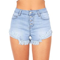 American Ragdoll Denim Shorts