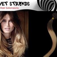 "24"" Full Head Ombre Clip In Extensions , Highest Quality Remy Human Hair , Your Choice of Natural Colors"
