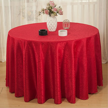 High quality 100%Polyester table cloth Round hotel tablecloth christmas wedding party banquet table cover Home Textiles Q175