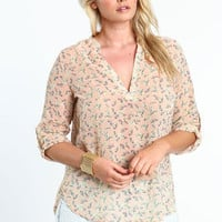 Plus Size Birds of a Feather Blouse - LoveCulture