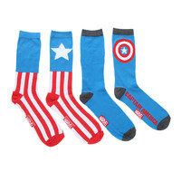 Marvel Captain America Crew Socks 2 Pair