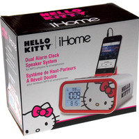 Alarm Clock iHome Hello Kitty Dual Speaker System MP3 Smartphone LCD USB Snooze