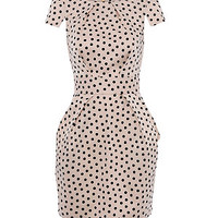 Closet Cream Polka Dot Tie Back Dress
