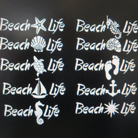 Beach Life car vehicle auto window decal custom sticker