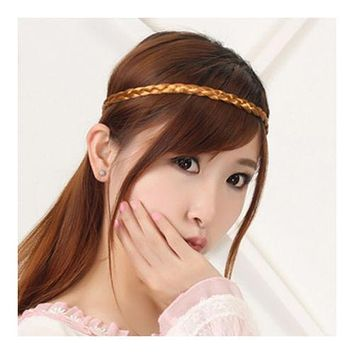 Middle Size Single Wig Hair Band Braid
