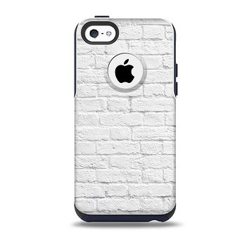 The White Brick Wall Skin for the iPhone 5c OtterBox Commuter Case