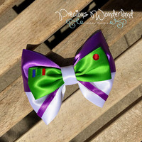 Toy Story Buzz Lightyear Disney Inspired Hair Bow