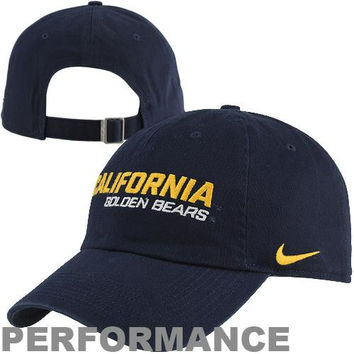Nike Cal Bears Dri-FIT Heritage 86 Campus Adjustable Performance Hat - Navy Blue-