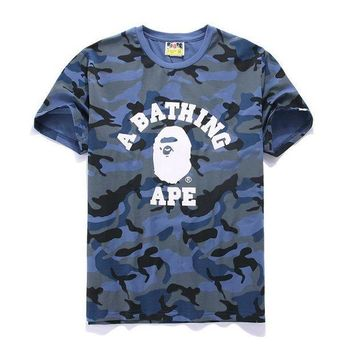PEAPON5L Cotton Summer Bape Print Short Sleeve T-shirts [415654969380]
