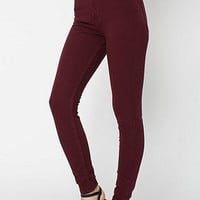 Four-Way StretchHigh-Waist Side Zipper Pant