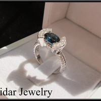 Sapphire And Diamond Engagement Ring | Vidar Jewelry - Unique Custom Engagement And Wedding Rings