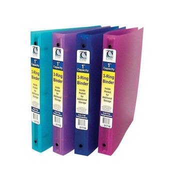 C LINE 3 RING BINDER 1IN CAPACITY