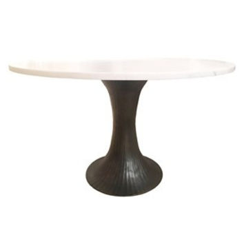 Selamat Alice Table Base Antique Brass/Pewter ALDTAL w/Glass or Stone Top