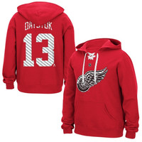 Pavel Datsyuk Detroit Red Wings Reebok Lace Up Name & Number Hockey Hoodie - Red