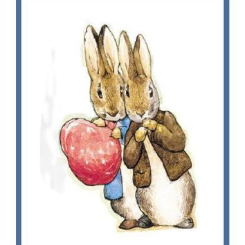 Peter and Benjamin Rabbit inspired by Beatrix Potter Counted Cross Stitch or Counted Needlepoint Pattern