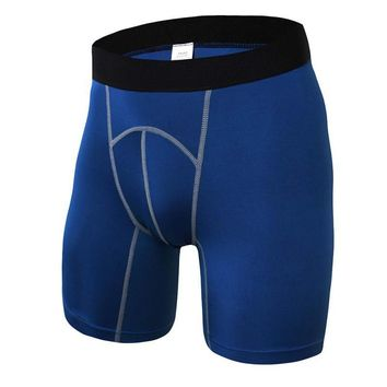 Men's Shorts Fitness Workout Compression Hot Shorts Man