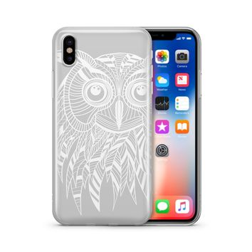 Henna Ethnic Owl - Clear TPU Case Cover Phone Case