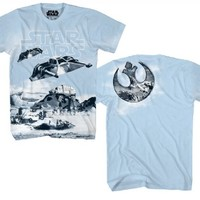 Star Wars Snowdrift Adult Light Carolina Blue T-Shirt