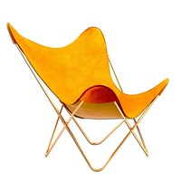 Parabellum Collection - Butterfly Chair- Pumpkin with Copper Plated Hardware - Collaborations