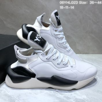 AUGUAU  A454 Adidas Sneakerhead Y-3 Running Shoes White Black
