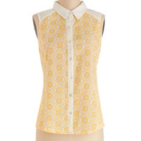ModCloth Mid-length Sleeveless Outdoor Outing Top