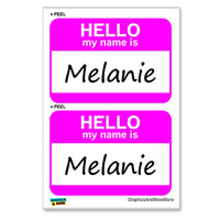 Melanie Hello My Name Is - Sheet of 2 Stickers