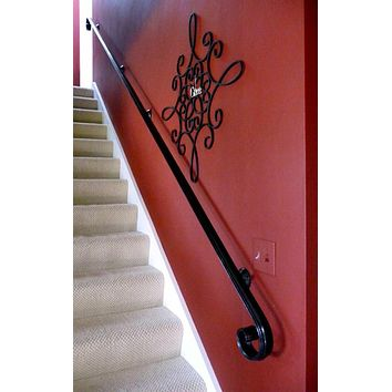 Scroll Wrought Iron Handrail, Railing