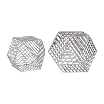 Silver Metallic Wire Dodecahedron