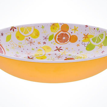 Disney Parks Mickey Mouse Icon Citrus Serving Bowl New