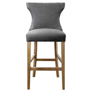 Gamlin Gray Bar Stool